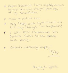 kayleigh-l-One-Dental-Testimonials